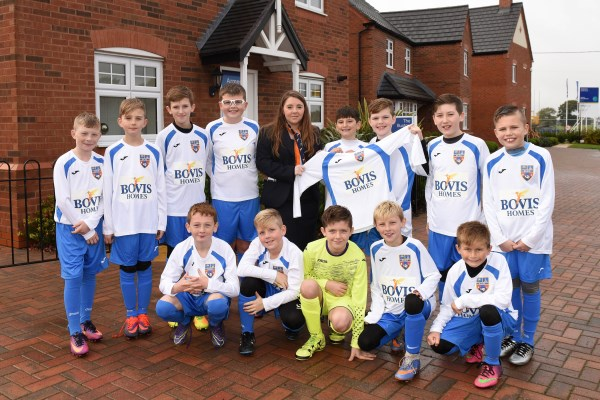 Image for New kit for Sandbach football team thanks to home builder