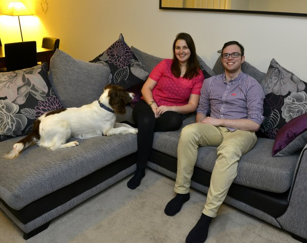 Tom and Jennifer happy in their new Bovis Home