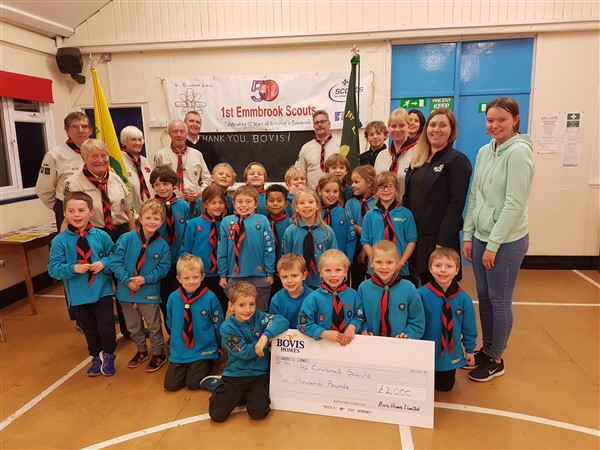 Image for Scouts set up camp in new extended facilities, thanks to Bovis Homes