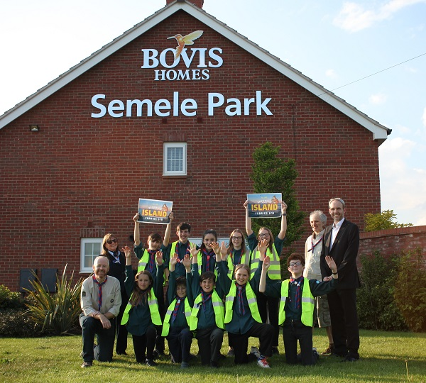 Image for Radford Semele Scouts to visit scouting's birthplace after housebuilder donation