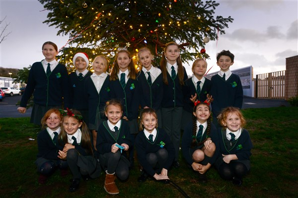 Image for Christmas comes to Sherford as community celebrates festive light switch-on