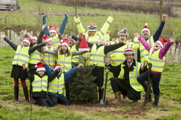 Christmas tree planting at Sherford