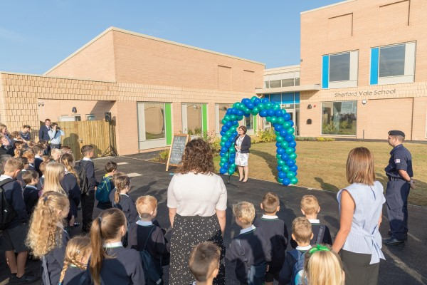 Image for Sherford's first primary school, Sherford Vale, now officially open