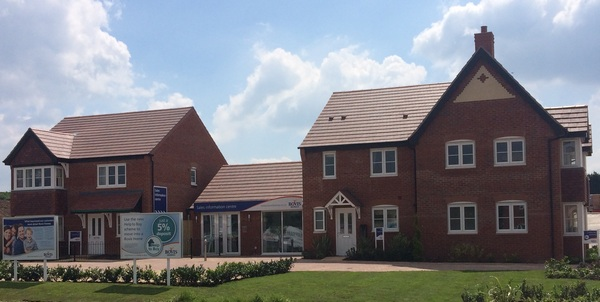 Show homes at Oakford Grange, Telford