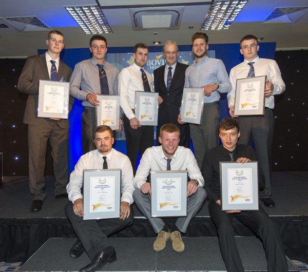 Winners at the Bovis Homes apprenticeship awards