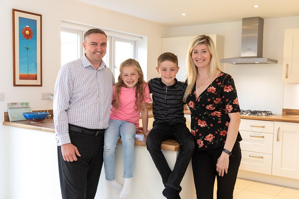 Image for Family's delight at new Steeple Claydon home–with room for kids, cat-and spider