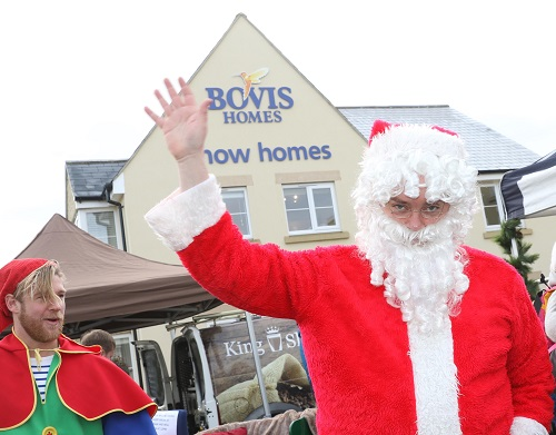 Image for Festive excitement is building as Santa visits county's new-home location