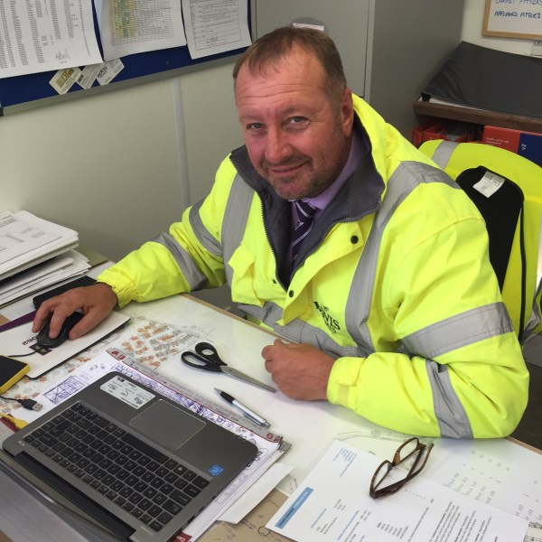 Award winning site manager, Stuart Beesley, at Ottery St Mary