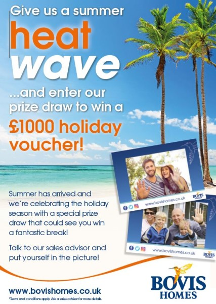 Image for Win £1000 in our summer heat wave prize draw