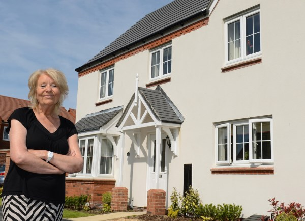 Susan Maxwell enjoying her new Bovis Home