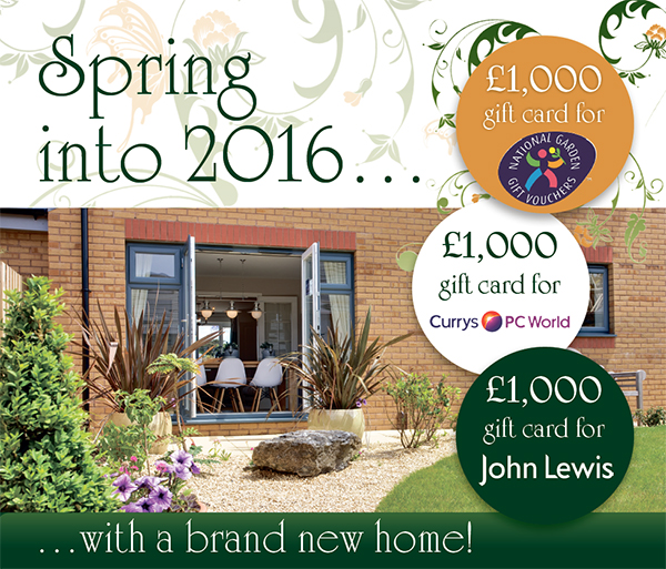 Spring into 2016 with a brand new home