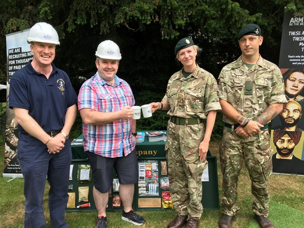 Image for Brewing up builder's tea in support of Armed Forces