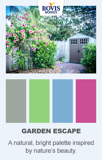 Colour palette, garden escape