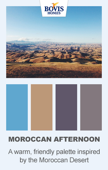 colour palette, Moroccan afternoon