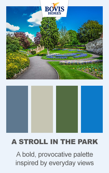 Colour palette, a stroll in the park