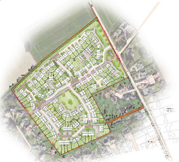 Image for Bovis Homes plans for 129 new homes in Thurston approved