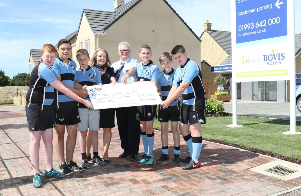 Image for Witney Rugby Club tackle show home launch