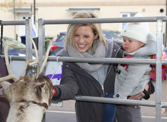 Image for Festive excitement is building as Santa and reindeer visit Oxfordshire's new-home location