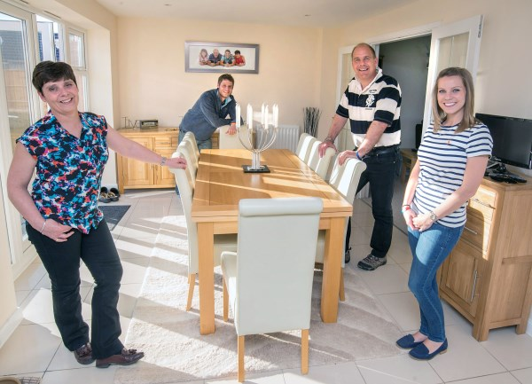 Phil Nicholson and his family in their new Bovis Home
