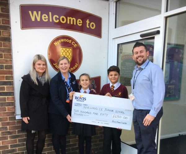 Image for West Sussex primary school receives support from local housebuilder for Christmas fundraiser